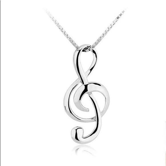 4045ea0dea5508 Jewelry | Musical Note 925 Sterling Silver Pendants Necklace | Poshmark